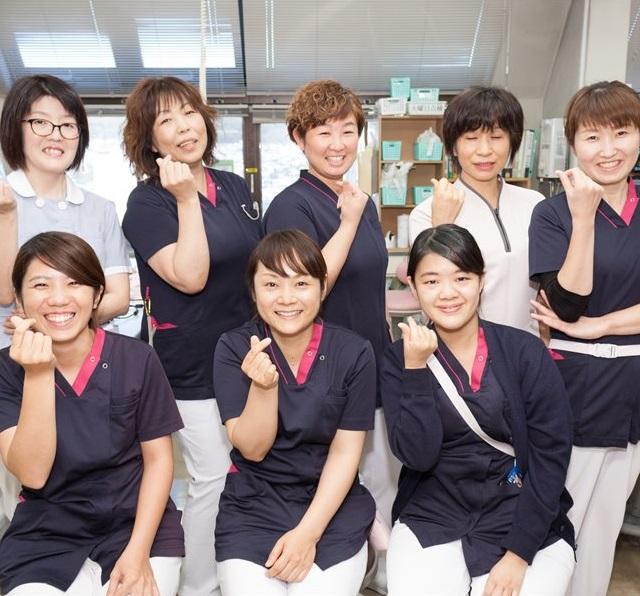 看護部集合写真です